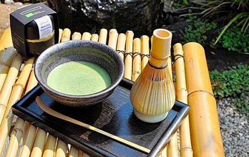 Zubereiteter Matcha Tee