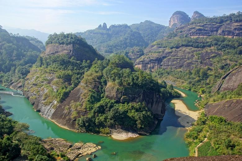 Fluss der neun Windungen im Wuyi-Gebirge, Nordost-Fujian, China