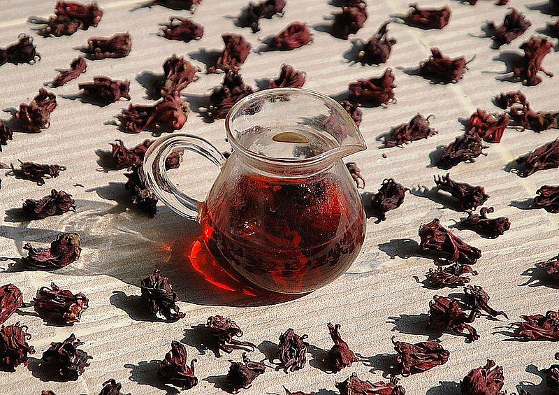 Blütenkelche - verantwortlich für die rote Farbe und fruchtigen Geschmack von Früchtetees