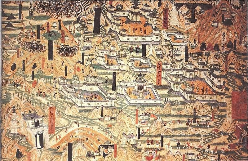 Das Goldene Zeitalter der Tang-Dynastie: zeitgenössisches Höhlengemälde