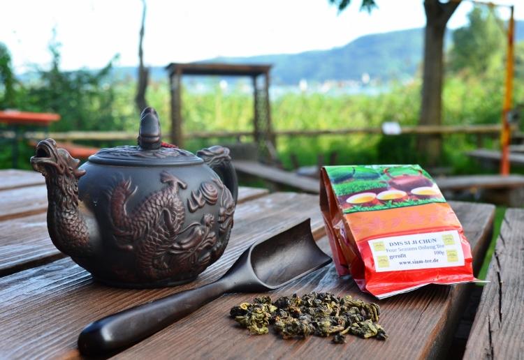 Hochwertiger Four Seasons Oolong Tee aus Doi Mae Salong, Nordthailand, im Siam Tee Shop
