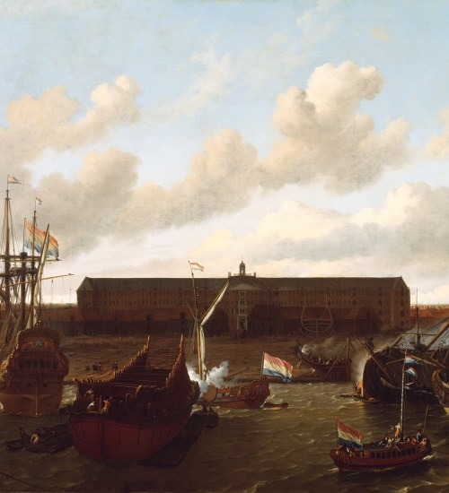Dock der Dutch East India Company in Amsterdam