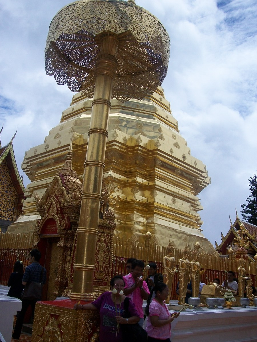The golden dome in Doi Suthep