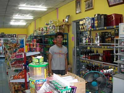 shop assistant at a convenience store in Phitsanulok