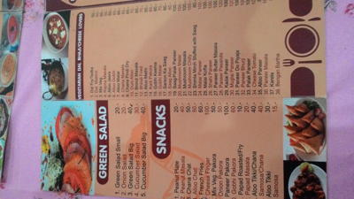 Indian Tadka restaurant prices