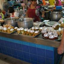 Thai soup and curry at a market