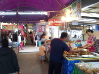 fried comfort food stall at the phitsanulok market