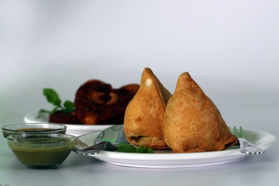 Indian food in Pattaya Samosa a popular Indian snack usually stuffed with potatoes or meat