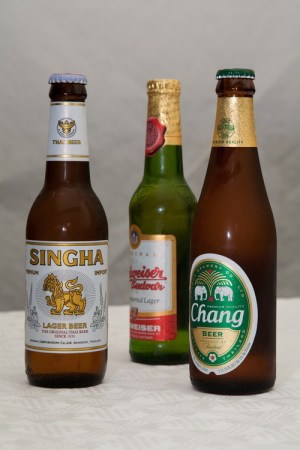 Chang and Singha beer from Thailand