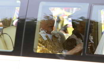his majesty the king of Thailand's motorcade on his birthday.