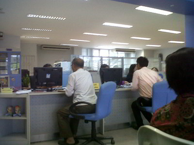 Tax counter where the tax id form can be submitted in Phitsanulok Thailand