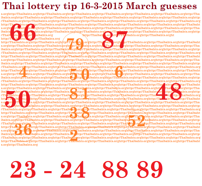 thai lottery 16-3-2015 tip