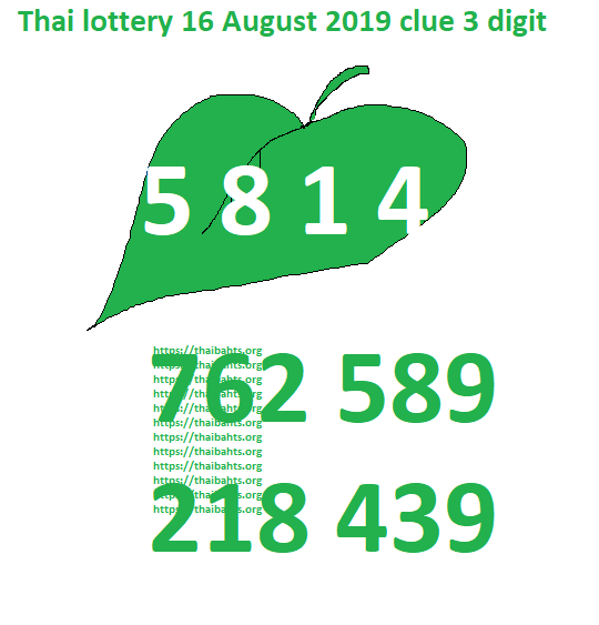 best 3 digits tip Thai lottery 16 August 2019