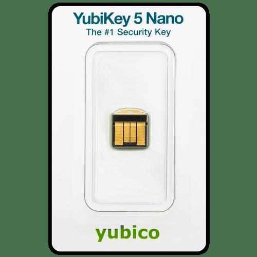 YubiKey 5 nano package 2020