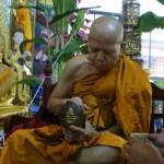 Pra Upakut Buddha Conch shell amulet - Kroo Ba Jao Duang Dee