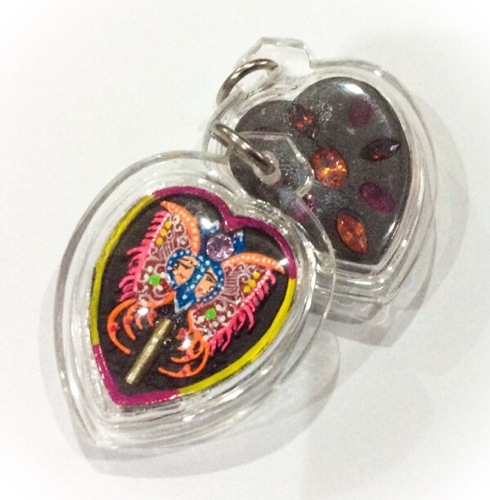 Taep Jamlaeng Butterfly King Amulet hearts