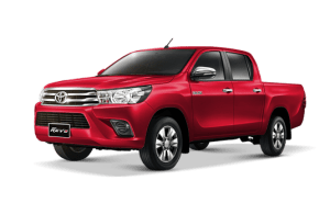 Toyota Hilux Revo Double Cab available in Red