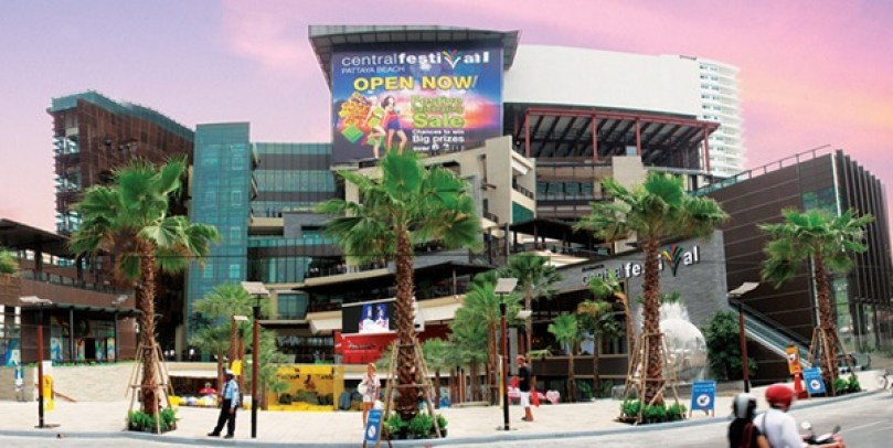 Central festival Pattaya beach shopping mall