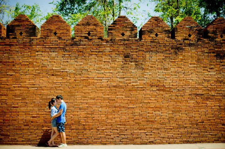 Chiang Mai Old City Wall - Thailand Wedding Photographer - Professional Wedding Photography Service