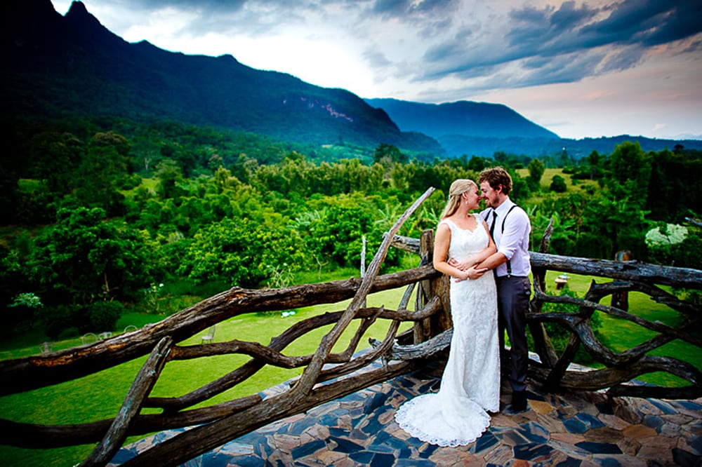 Picture from a destination wedding at Doi Luang Private Reserve in Chiang Dao, Thailand.