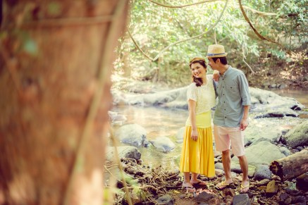 Yuen and Chan's Chet Waterfall pre-wedding (prenuptial, engagement session) in Saraburi, Thailand. Chet Waterfall_Saraburi_wedding_photographer_Yuen and Chan_2007.TIF