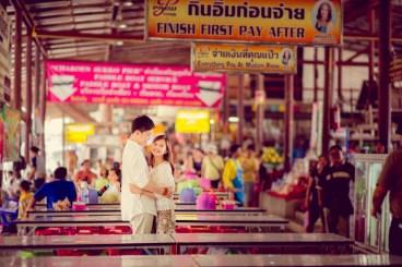 Yuchen and Wenquan's Damnoen Saduak Floating Market pre-wedding (prenuptial, engagement session) in Ratchaburi , Thailand. Damnoen Saduak Floating Market_Ratchaburi _wedding_photographer_Yuchen and Wenquan_0347.TIF
