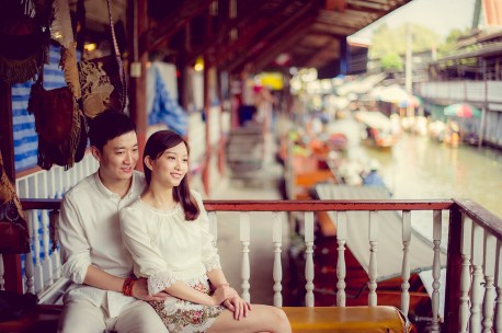 Yuchen and Wenquan's Damnoen Saduak Floating Market pre-wedding (prenuptial, engagement session) in Ratchaburi , Thailand. Damnoen Saduak Floating Market_Ratchaburi _wedding_photographer_Yuchen and Wenquan_0350.TIF
