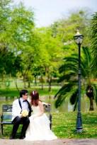 Loh and Jason's King Rama IX Park pre-wedding (prenuptial, engagement session) in Bangkok, Thailand. King Rama IX Park_Bangkok_wedding_photographer_Loh and Jason_1801.TIF