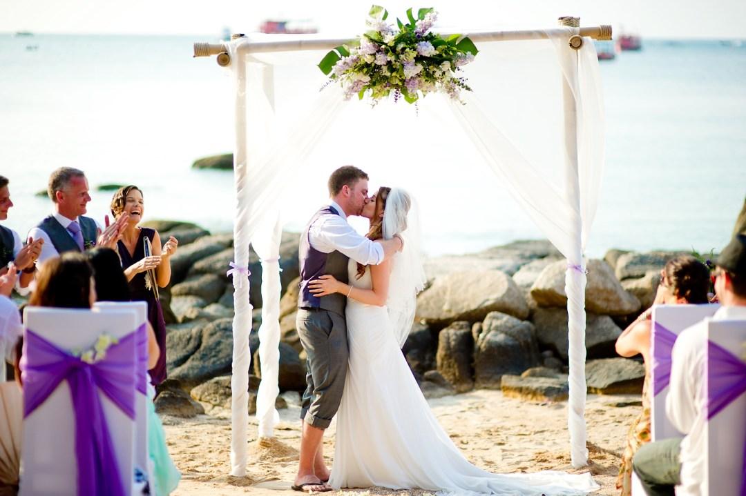 Photo of the Day - Jill and Matthew's Koh Tao Beach Wedding