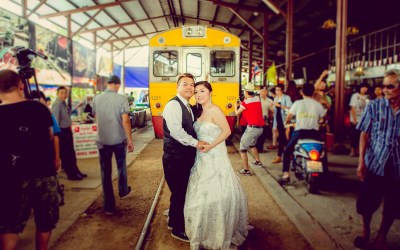 Pre-Wedding in Ayutthaya and Mae Klong Market