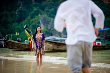 Tarinee and Dyson's Railay Beach pre-wedding (prenuptial, engagement session) in Krabi, Thailand. Railay Beach_Krabi_wedding_photographer_Tarinee and Dyson_1867.TIF