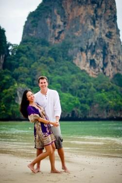 Tarinee and Dyson's Railay Beach pre-wedding (prenuptial, engagement session) in Krabi, Thailand. Railay Beach_Krabi_wedding_photographer_Tarinee and Dyson_1875.TIF