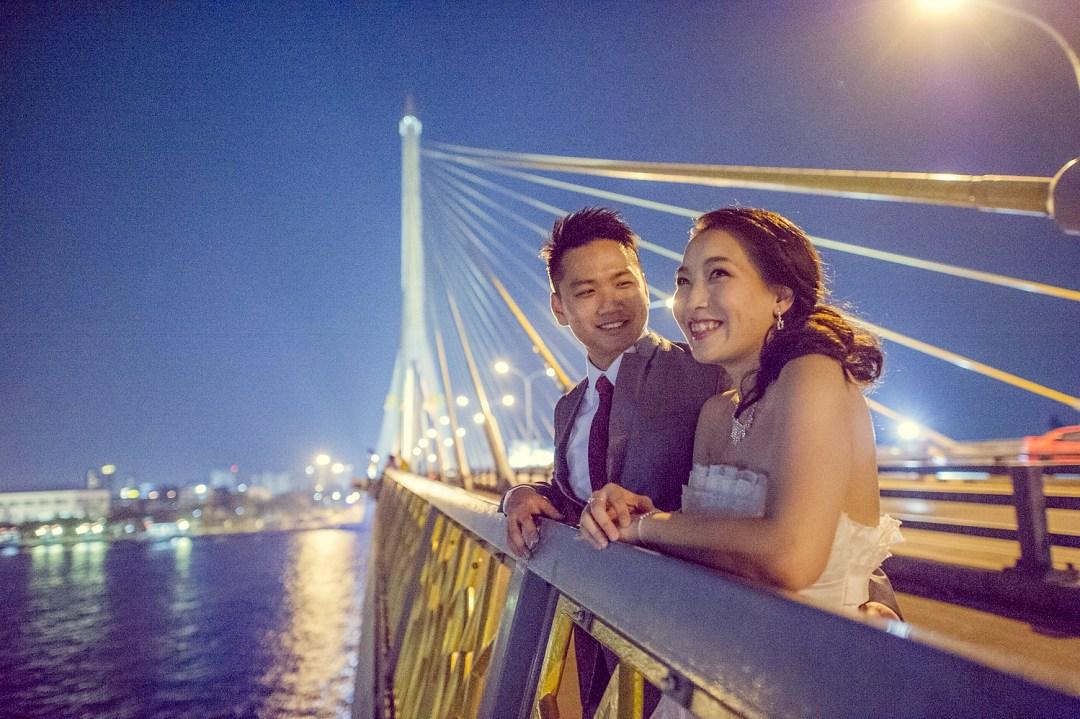 Pre-Wedding at Rama VIII Suspension Bridge in Bangkok Thailand   Bangkok Wedding Photography