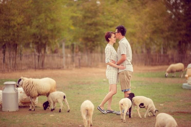 Si'En and Lai's Sheep Land Khao Yai pre-wedding (prenuptial, engagement session) in Khao Yai, Thailand. Sheep Land Khao Yai_Khao Yai_wedding_photographer_Si'En and Lai_0237.TIF