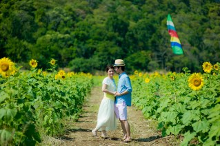 Yuen and Chan's Sunflower Field pre-wedding (prenuptial, engagement session) in Saraburi, Thailand. Sunflower Field_Saraburi_wedding_photographer_Yuen and Chan_1998.TIF