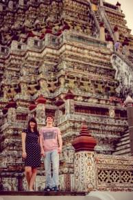 Tatiana and Alex's Wat Arun pre-wedding (prenuptial, engagement session) in Bangkok, Thailand. Wat Arun_Bangkok_wedding_photographer__1365.TIF