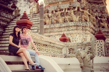 Tatiana and Alex's Wat Arun pre-wedding (prenuptial, engagement session) in Bangkok, Thailand. Wat Arun_Bangkok_wedding_photographer__1366.TIF