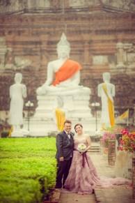 Yoko and Tor's Wat Yai Chai Mongkhon pre-wedding (prenuptial, engagement session) in Ayutthaya, Thailand. Wat Yai Chai Mongkhon_Ayutthaya_wedding_photographer_Yoko and Tor_0328.TIF