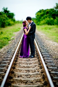 Hua Hin, Thailand - Pre-Wedding (Engagement) photo taken at a railway station (train station) in Hua Hin, Thailand.