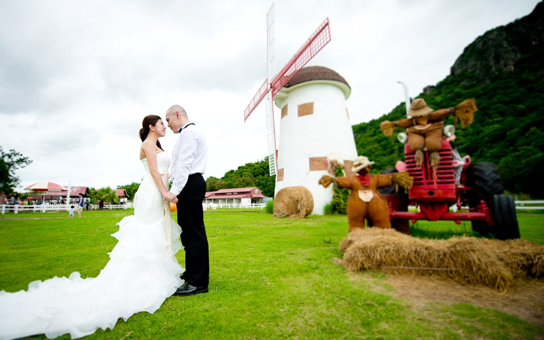 Hua Hin Pre-Wedding Photography: Hua Hin Beach and Swiss Sheep Farm