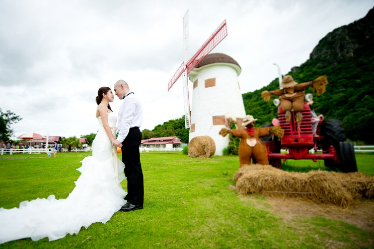 Hua Hin, Thailand - (Engagement Session) Pre-Wedding photo taken at Swiss Sheep Farm in Hua Hin, Thailand.