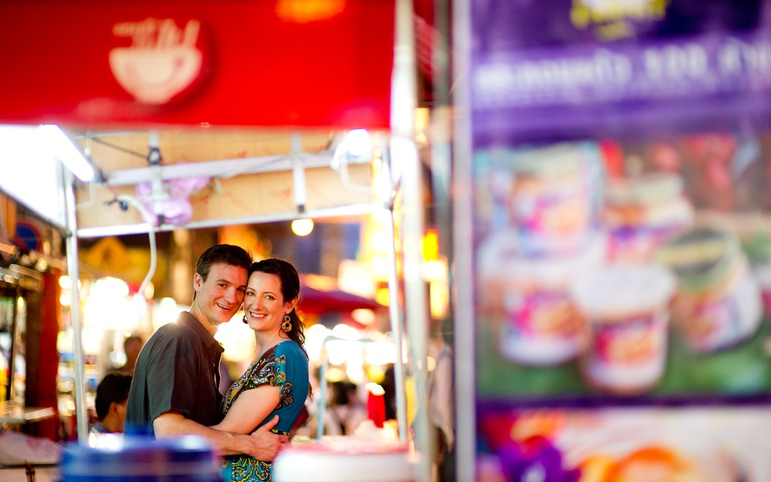 Bangkok Engagement Session: Kristine and Kent from Canada