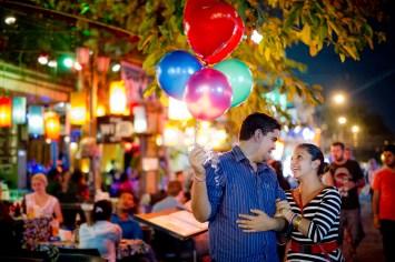 Rosalba and Jorge's Khao San Road pre-wedding (prenuptial, engagement session) in Bangkok, Thailand. Khao San Road_Bangkok_wedding_photographer_Rosalba and Jorge_177.TIF