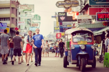 Candace and Nick's Khaosan Road pre-wedding (prenuptial, engagement session) in Bangkok, Thailand. Khaosan Road_Bangkok_wedding_photographer_Candace and Nick_3.TIF