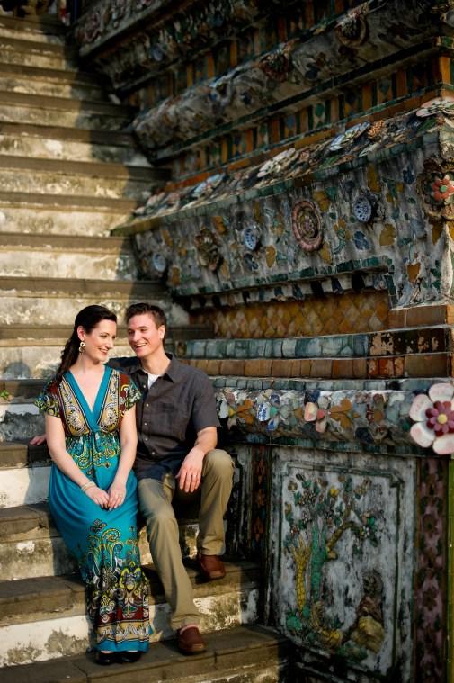 Kristine and Kent's Wat Arun pre-wedding (prenuptial, engagement session) in Bangkok, Thailand. Wat Arun_Bangkok_wedding_photographer_Kristine and Kent_246.TIF