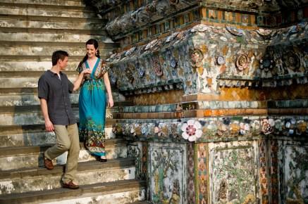 Kristine and Kent's Wat Arun pre-wedding (prenuptial, engagement session) in Bangkok, Thailand. Wat Arun_Bangkok_wedding_photographer_Kristine and Kent_247.TIF