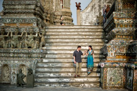 Kristine and Kent's Wat Arun pre-wedding (prenuptial, engagement session) in Bangkok, Thailand. Wat Arun_Bangkok_wedding_photographer_Kristine and Kent_248.TIF