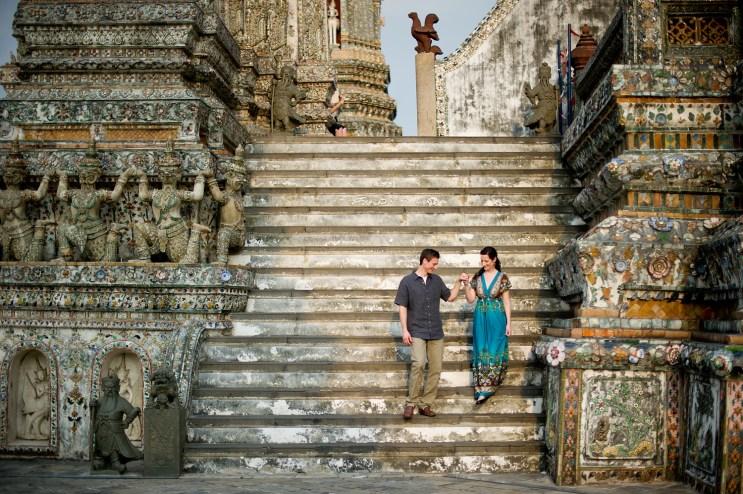 Kristine and Kent's Wat Arun pre-wedding (prenuptial, engagement session) in Bangkok, Thailand. Wat Arun_Bangkok_wedding_photographer_Kristine and Kent_248.TIF