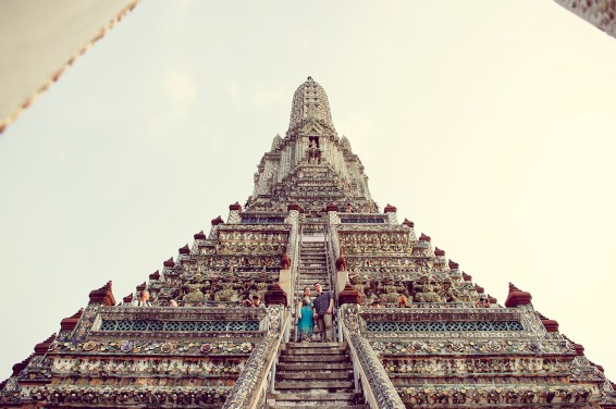 Kristine and Kent's Wat Arun pre-wedding (prenuptial, engagement session) in Bangkok, Thailand. Wat Arun_Bangkok_wedding_photographer_Kristine and Kent_249.TIF