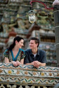 Kristine and Kent's Wat Arun pre-wedding (prenuptial, engagement session) in Bangkok, Thailand. Wat Arun_Bangkok_wedding_photographer_Kristine and Kent_250.TIF
